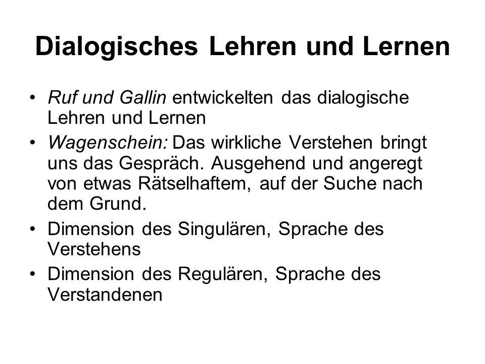 Dialogisches Lehren und Lernen
