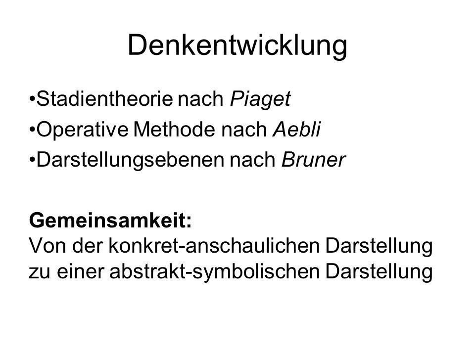 Denkentwicklung Stadientheorie nach Piaget
