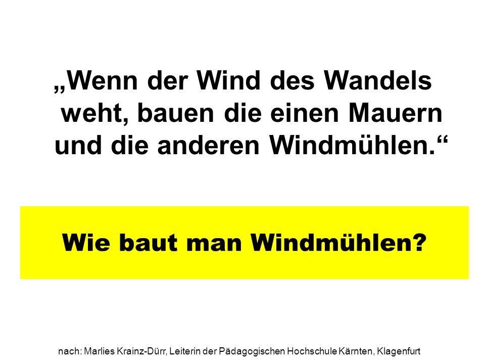 Wie baut man Windmühlen