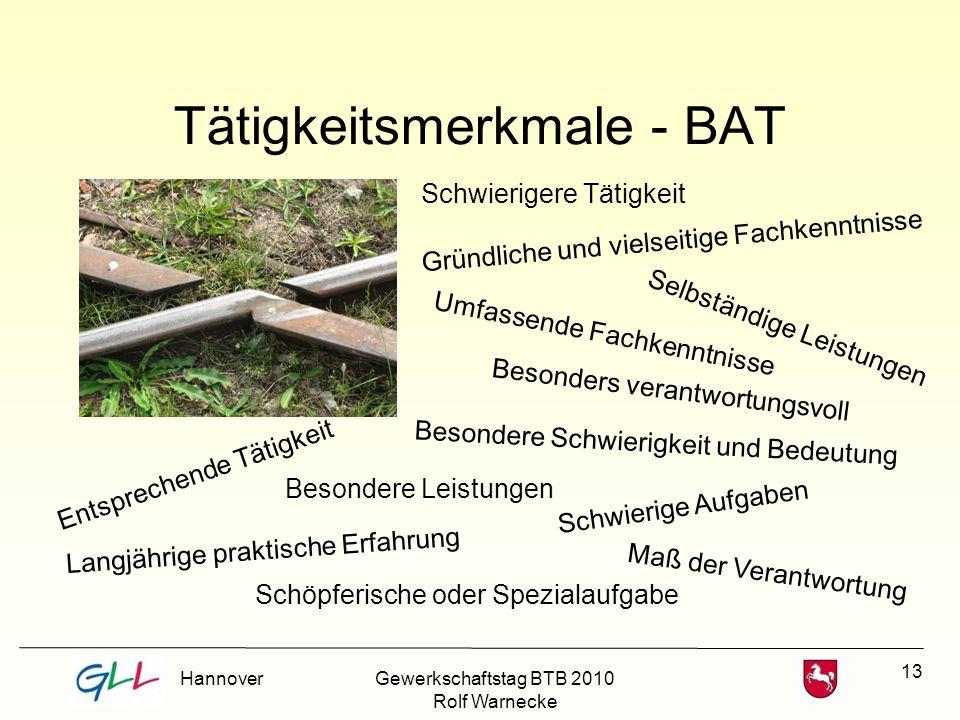 Tätigkeitsmerkmale - BAT