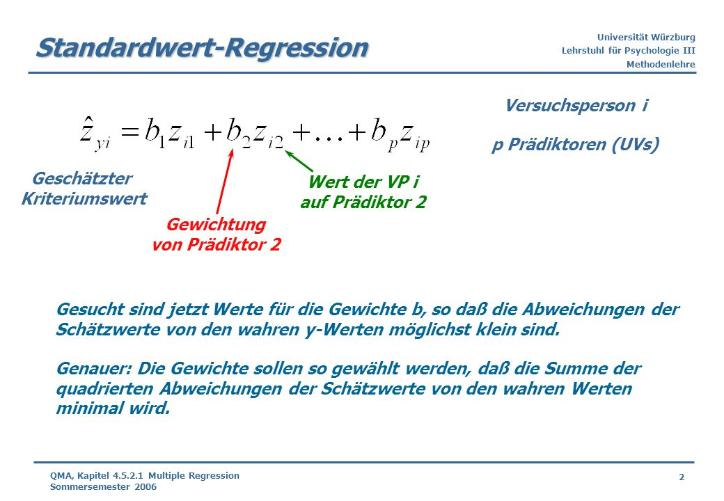 Standardwert-Regression