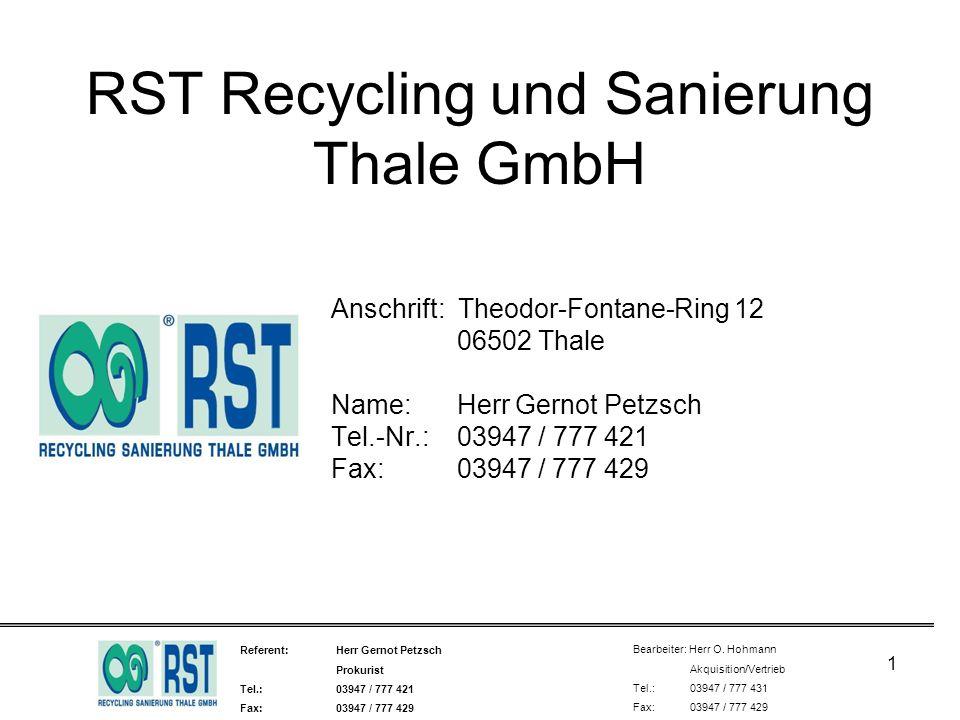 RST Recycling und Sanierung Thale GmbH