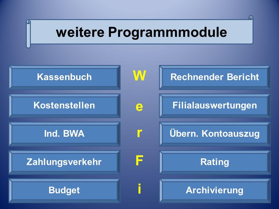 weitere Programmmodule