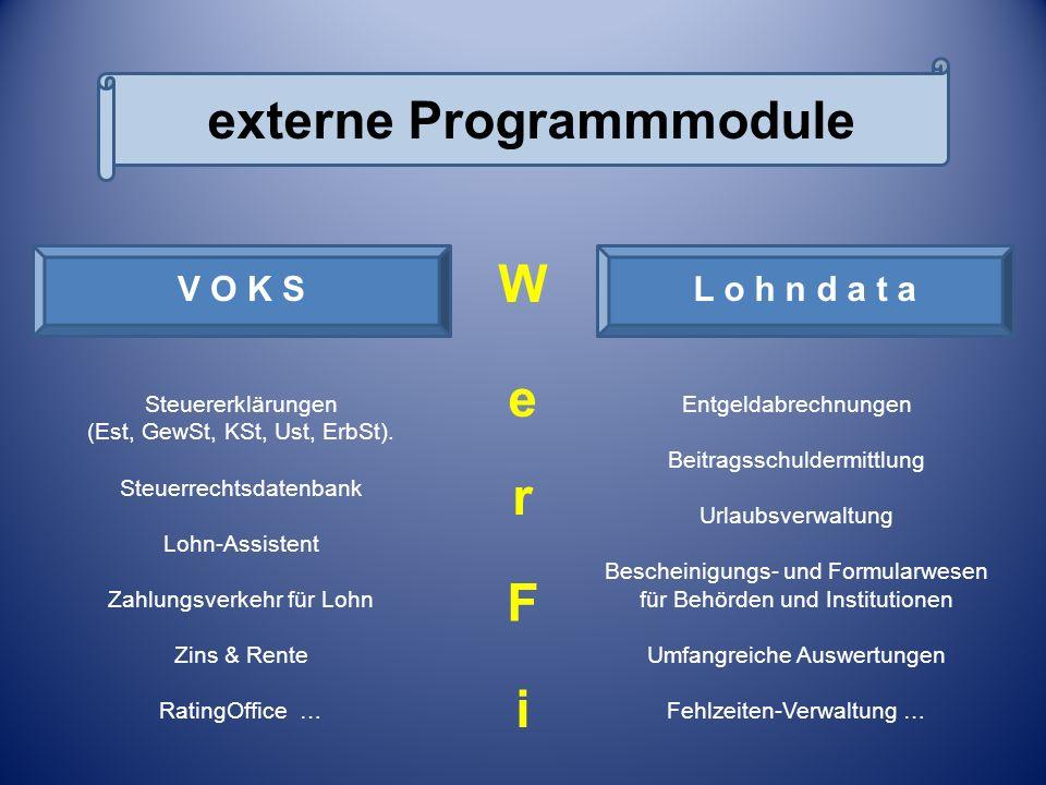Externe Programm-Module