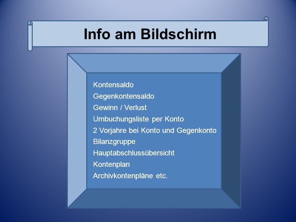 Bildschirminformationen