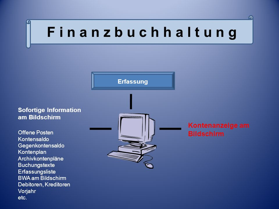 Bildschirmanzeige FiBu