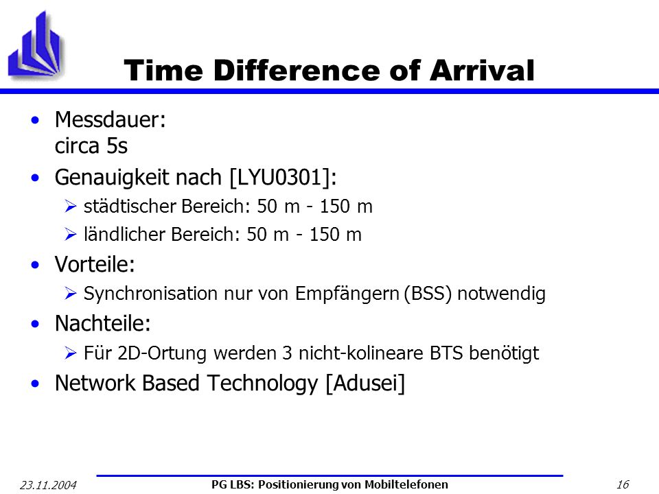 Time Difference of Arrival