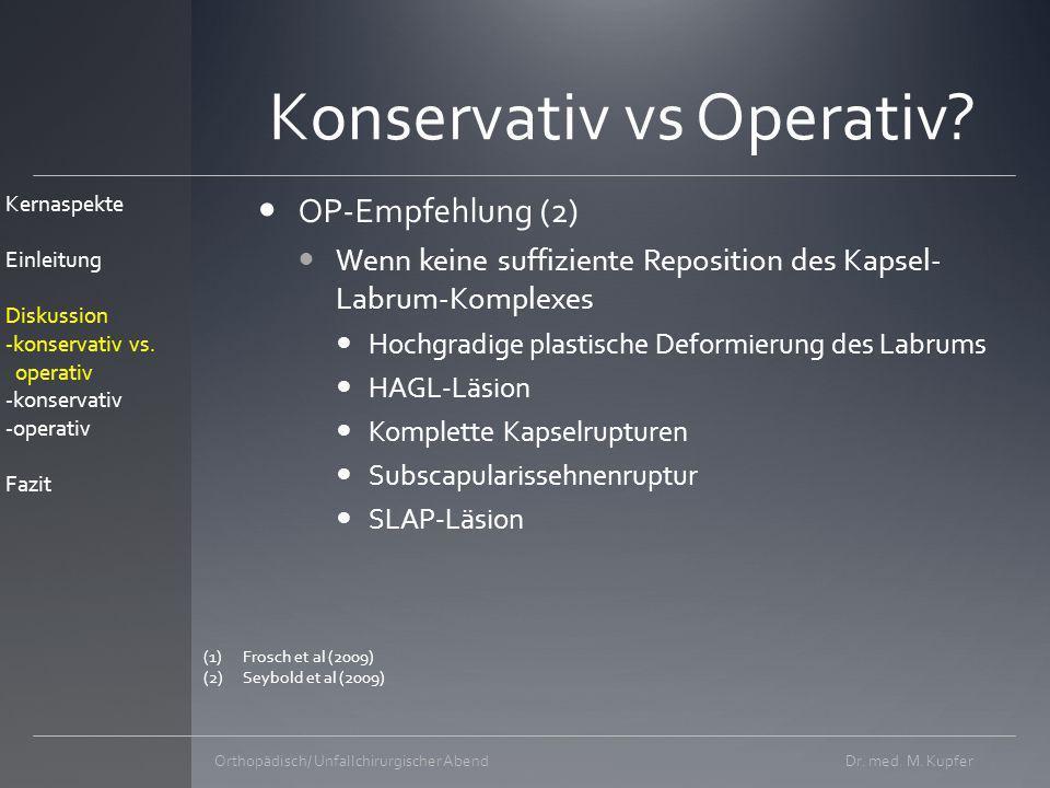 Konservativ vs Operativ