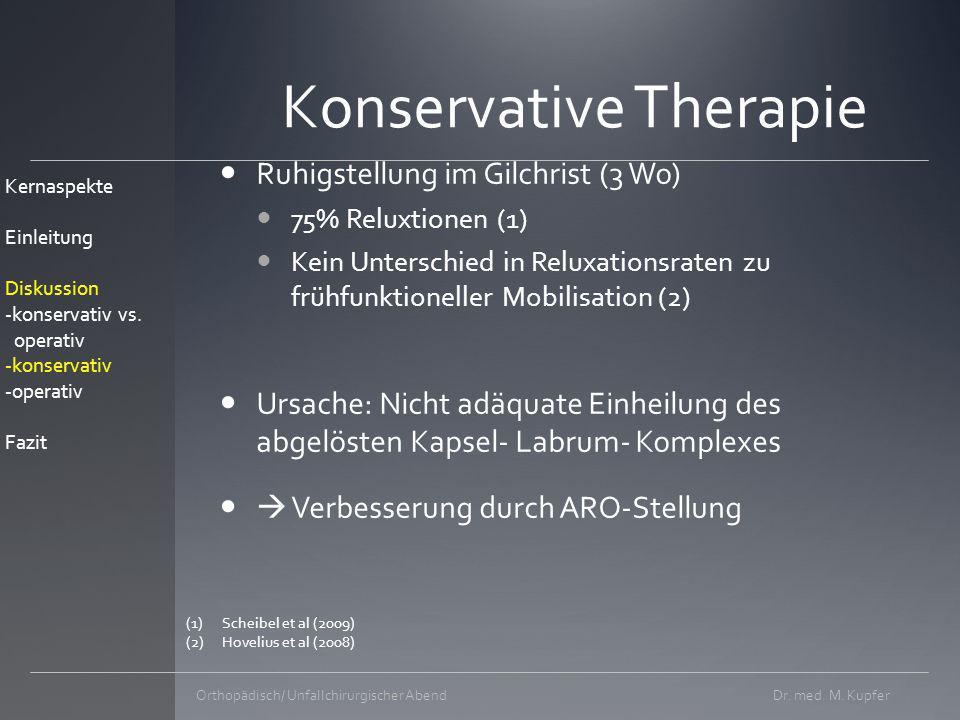 Konservative Therapie
