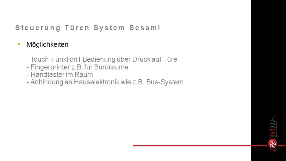 Steuerung Türen System Sesami