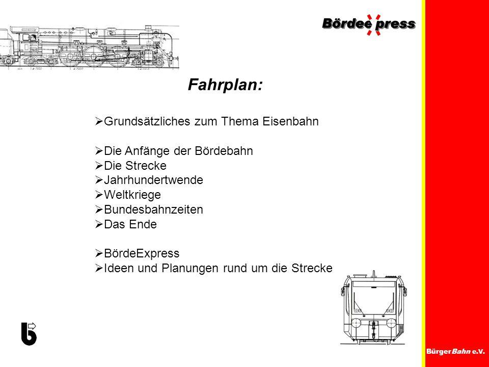 Fahrplan: Grundsätzliches zum Thema Eisenbahn