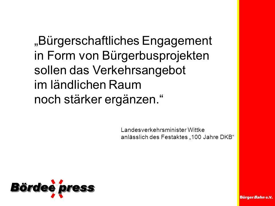 """""""Bürgerschaftliches Engagement in Form von Bürgerbusprojekten"""