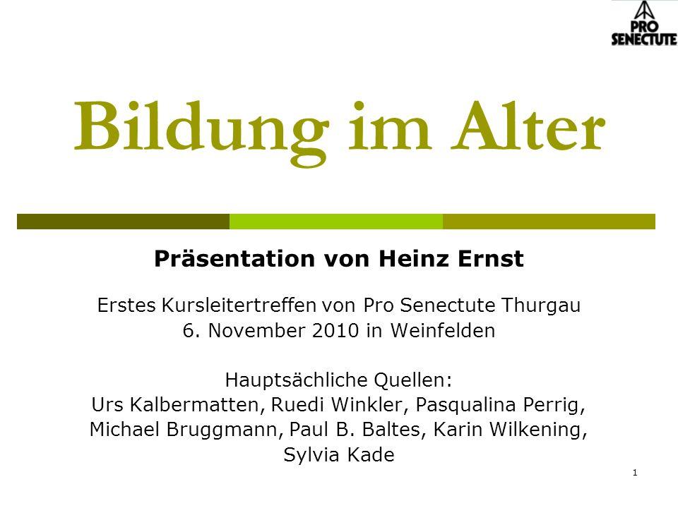 Präsentation von Heinz Ernst