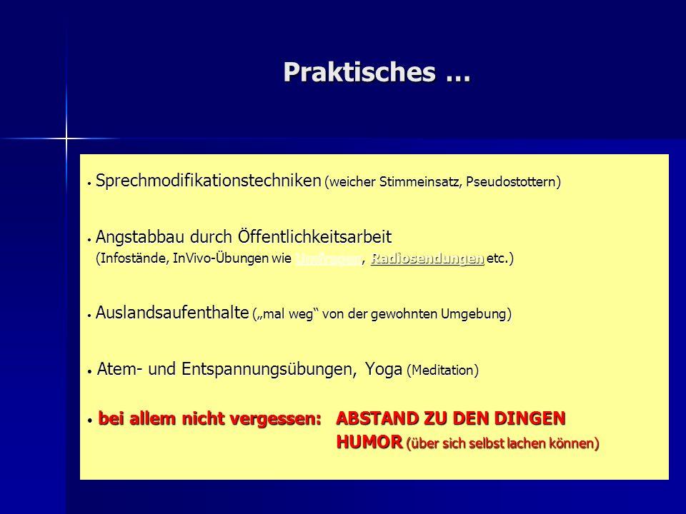 Praktisches … Sprechmodifikationstechniken (weicher Stimmeinsatz, Pseudostottern)