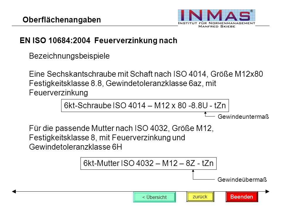 EN ISO 10684:2004 Feuerverzinkung nach