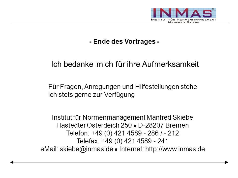 Institut für Normenmanagement Manfred Skiebe