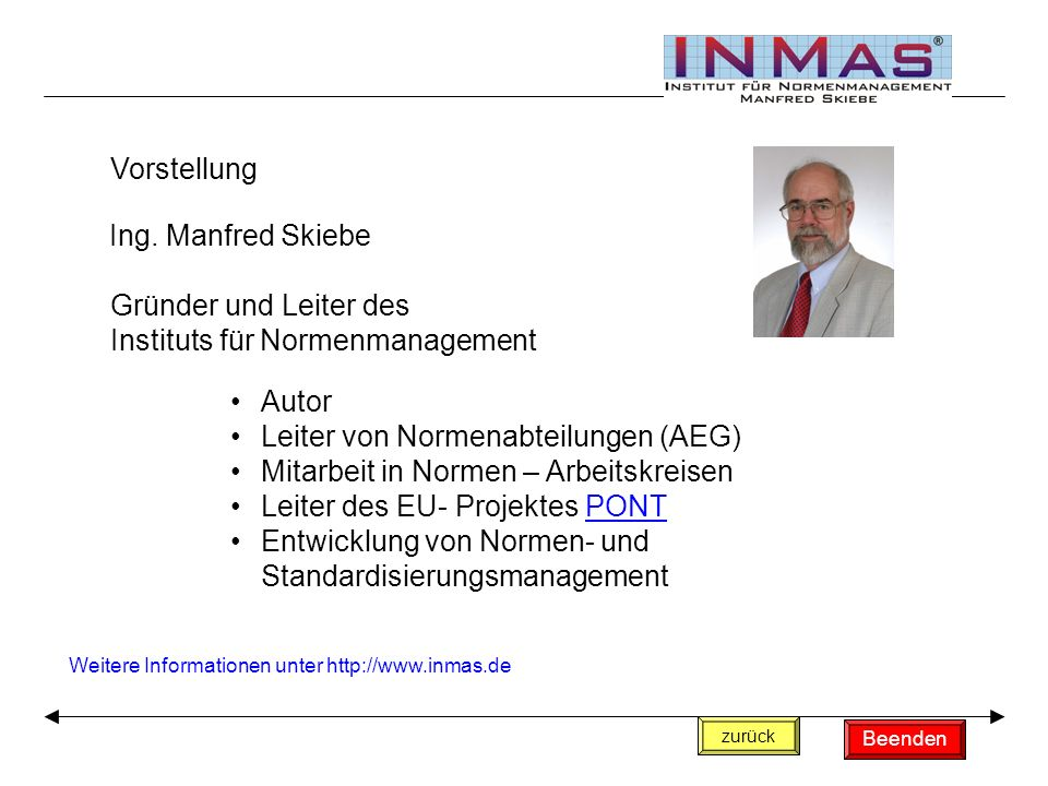 Instituts für Normenmanagement