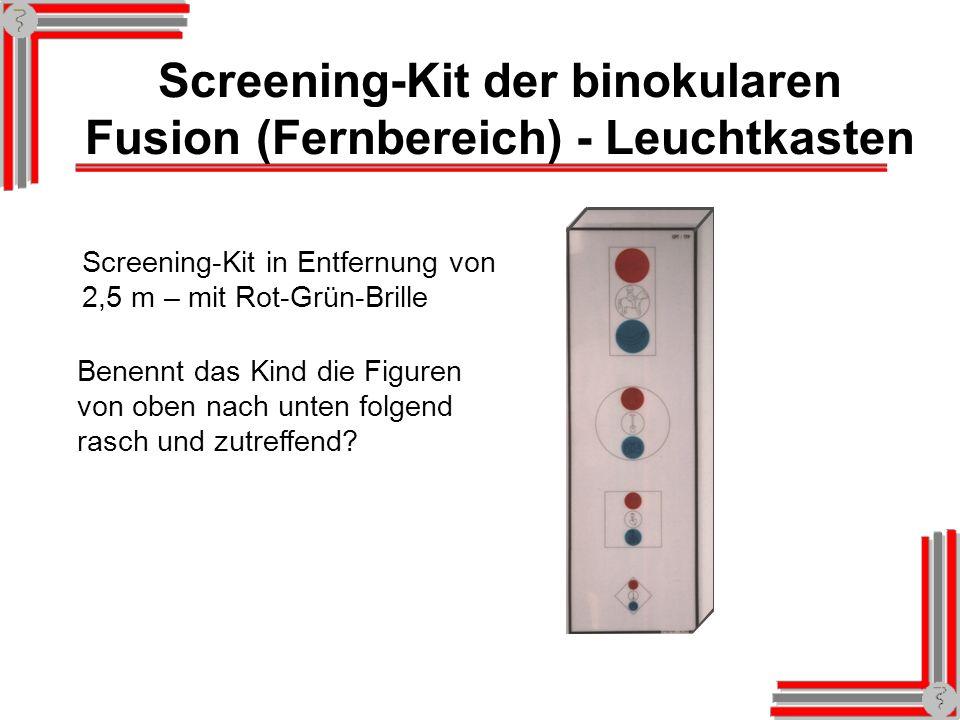 Screening-Kit der binokularen Fusion (Fernbereich) - Leuchtkasten