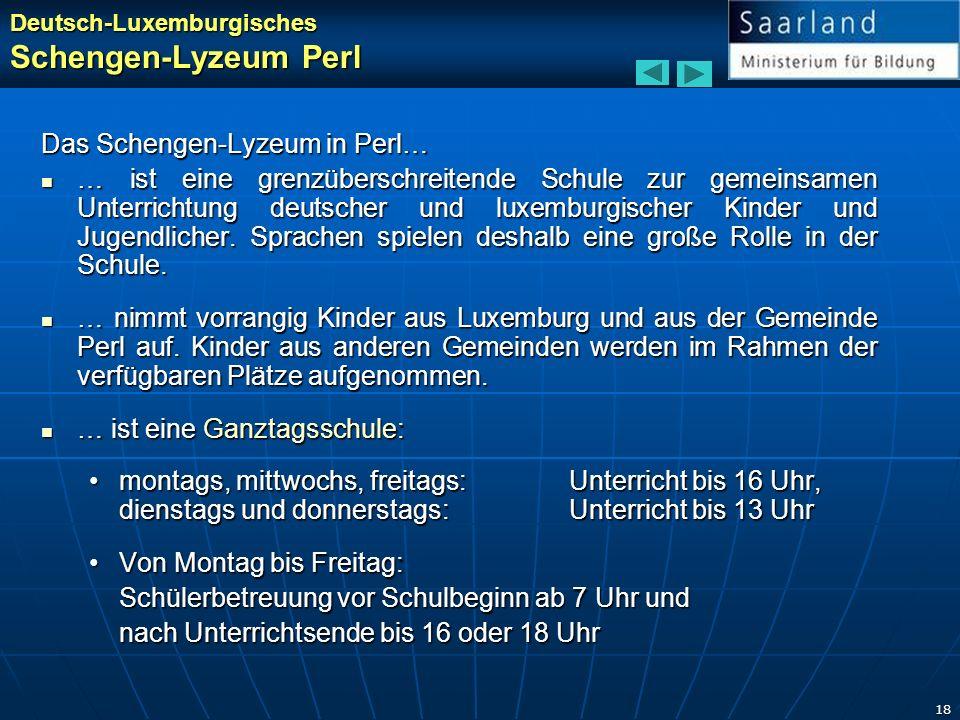 Schengen-Lyzeum Perl Das Schengen-Lyzeum in Perl…
