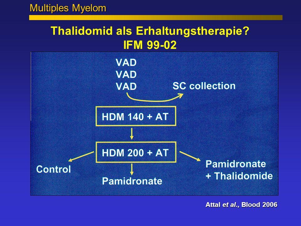 Thalidomid als Erhaltungstherapie IFM 99-02