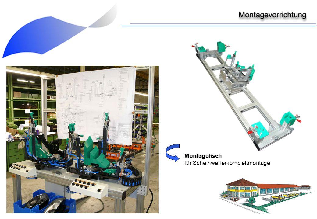 Montagetisch für Scheinwerferkomplettmontage