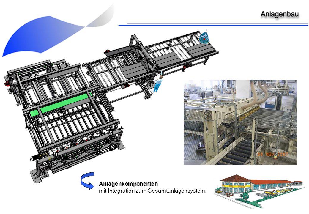 Anlagenkomponenten mit Integration zum Gesamtanlagensystem.