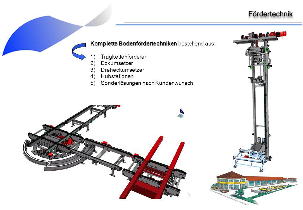 Komplette Bodenfördertechniken bestehend aus: