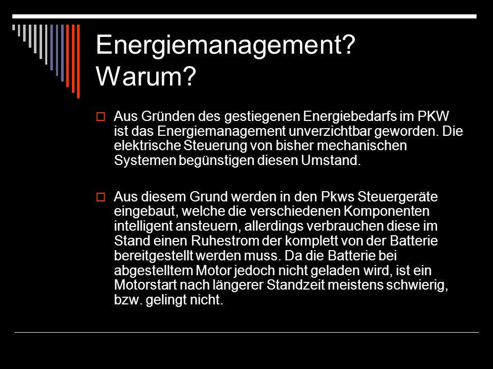 Energiemanagement Warum