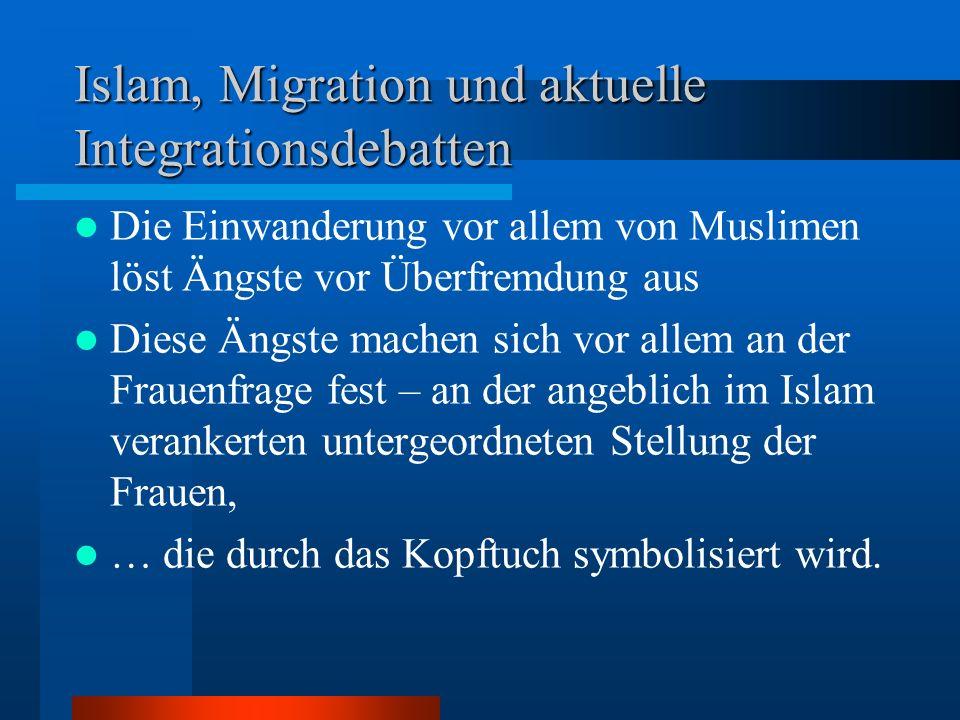 Islam, Migration und aktuelle Integrationsdebatten
