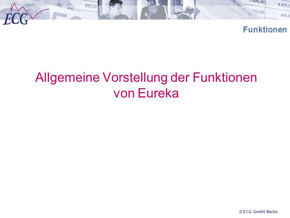 Allgemeine Vorstellung der Funktionen von Eureka
