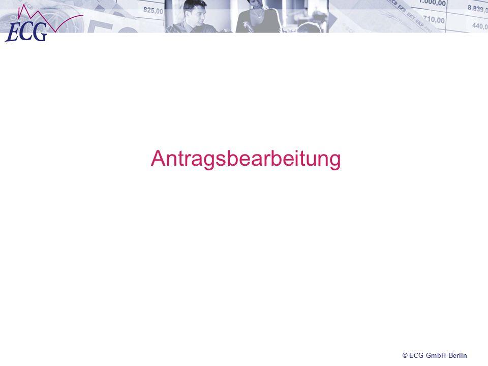 Antragsbearbeitung © ECG GmbH Berlin