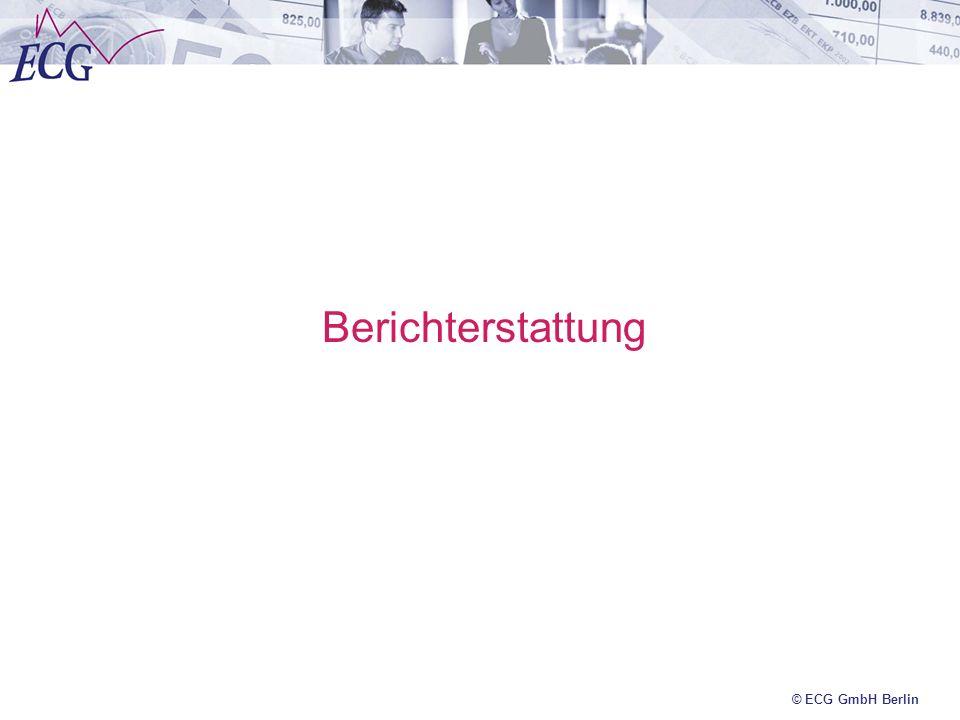 Berichterstattung © ECG GmbH Berlin