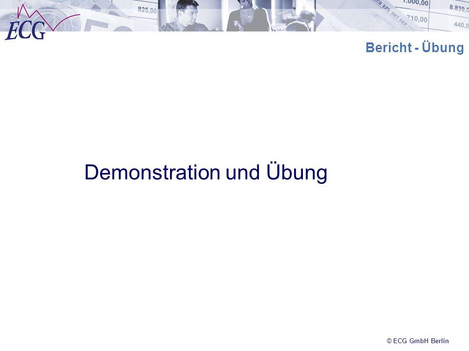Demonstration und Übung