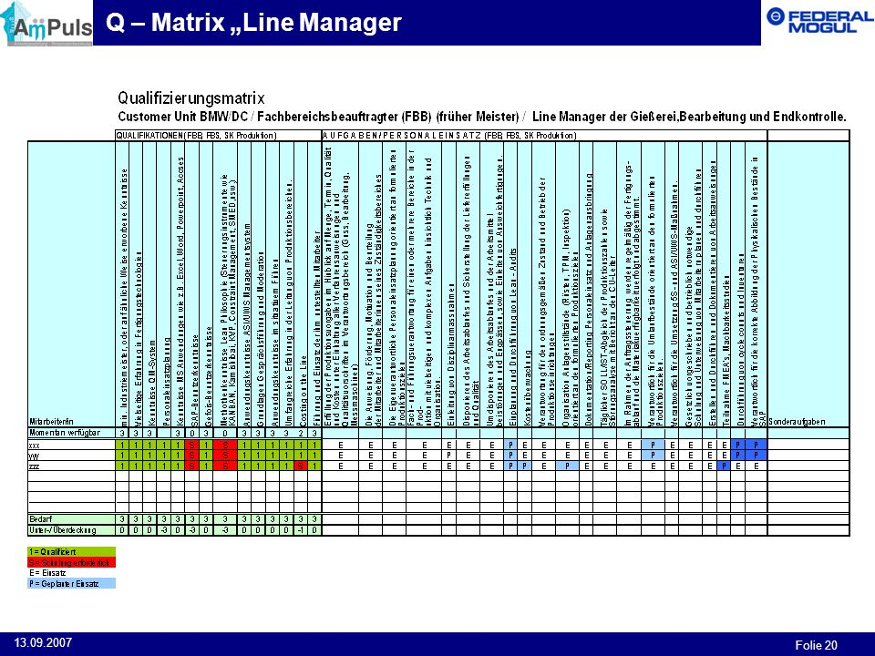 "Q – Matrix ""Line Manager"