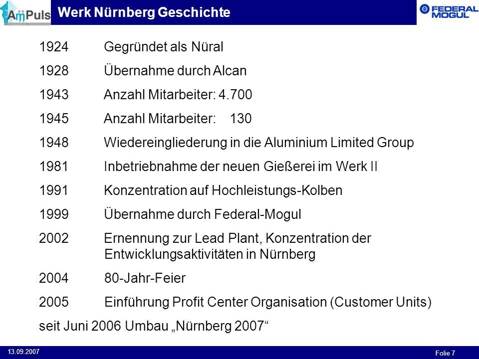 Werk Nürnberg Geschichte