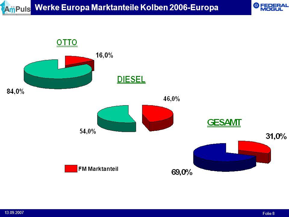 Werke Europa Marktanteile Kolben 2006-Europa