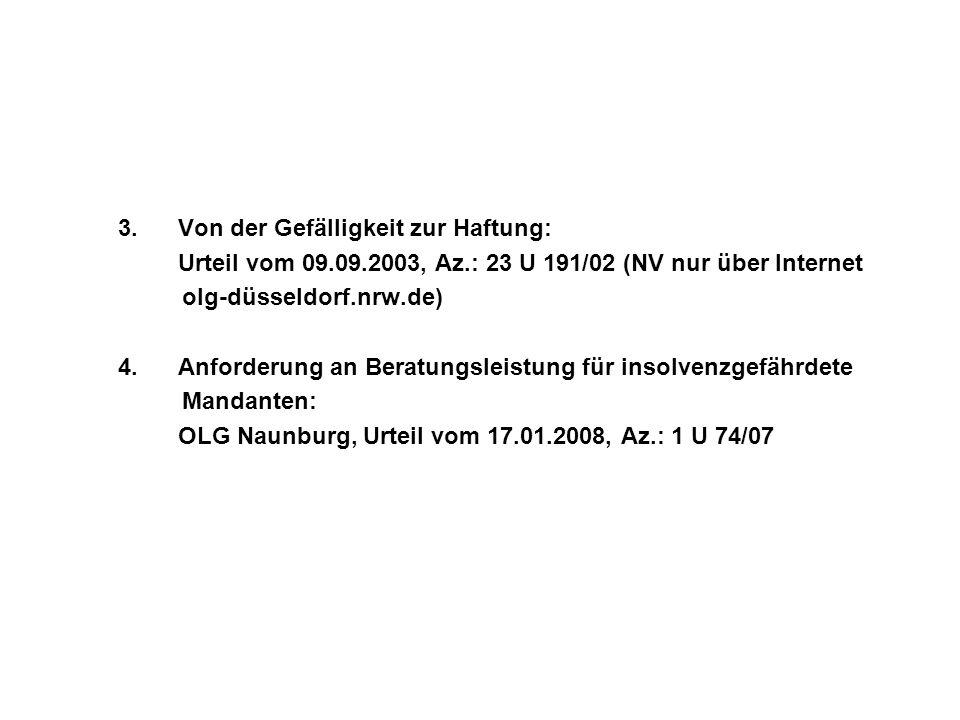 Urteil vom 09.09.2003, Az.: 23 U 191/02 (NV nur über Internet