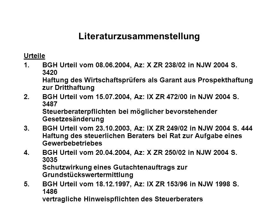 Literaturzusammenstellung