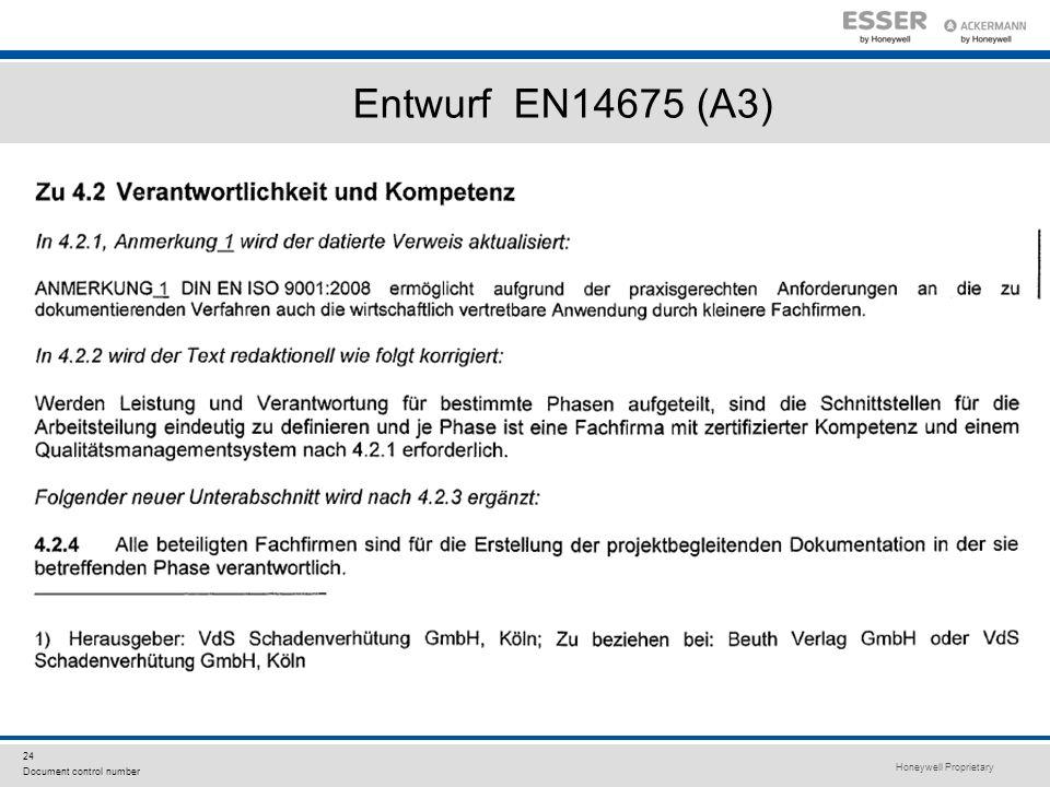 Entwurf EN14675 (A3)