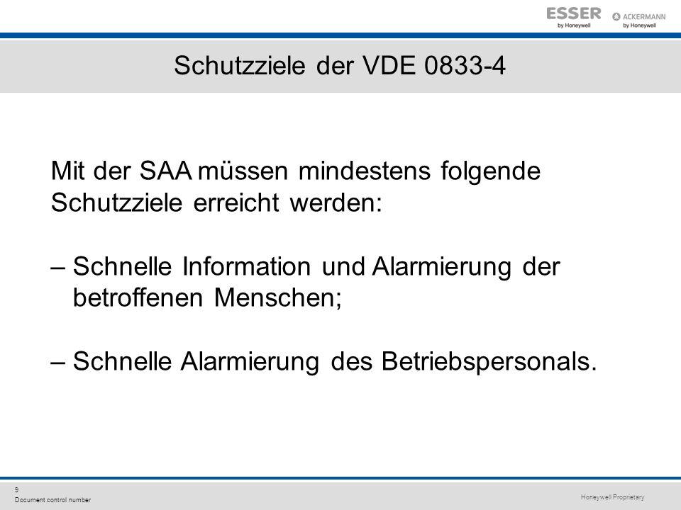 Schutzziele der VDE 0833-4 Mit der SAA müssen mindestens folgende. Schutzziele erreicht werden: – Schnelle Information und Alarmierung der.