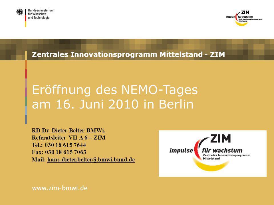 Eröffnung des NEMO-Tages am 16. Juni 2010 in Berlin