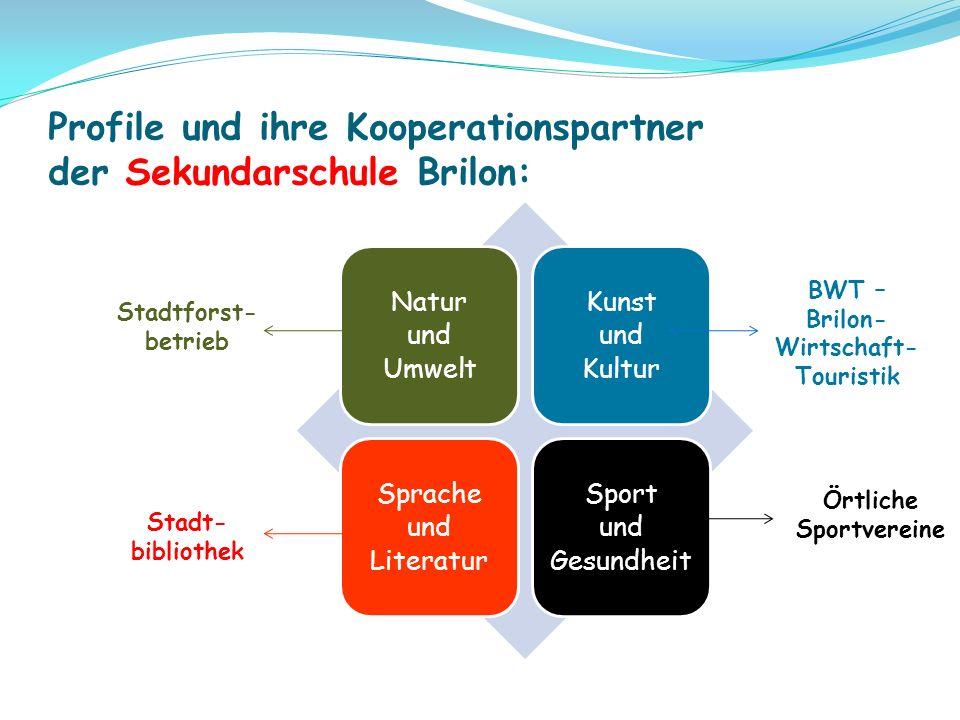 Profile und ihre Kooperationspartner der Sekundarschule Brilon: