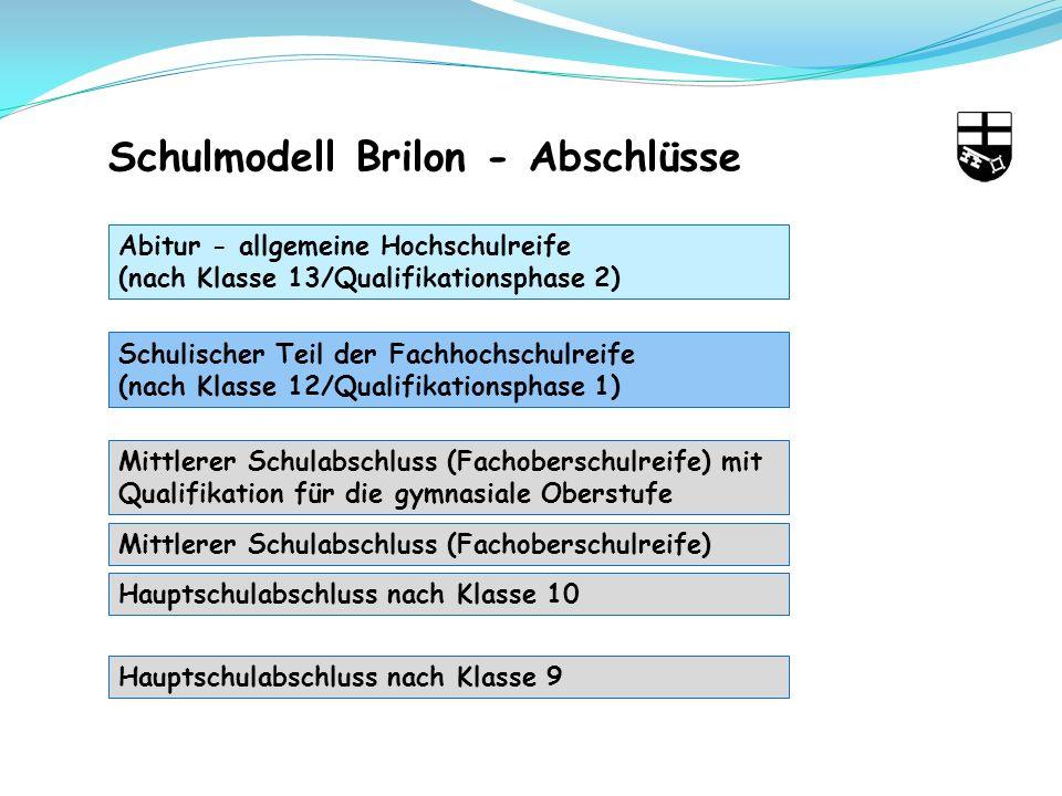 Schulmodell Brilon - Abschlüsse