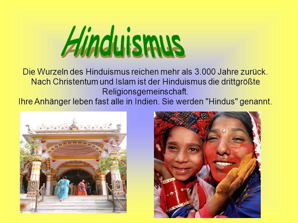 Ihre Anhänger leben fast alle in Indien. Sie werden Hindus genannt.