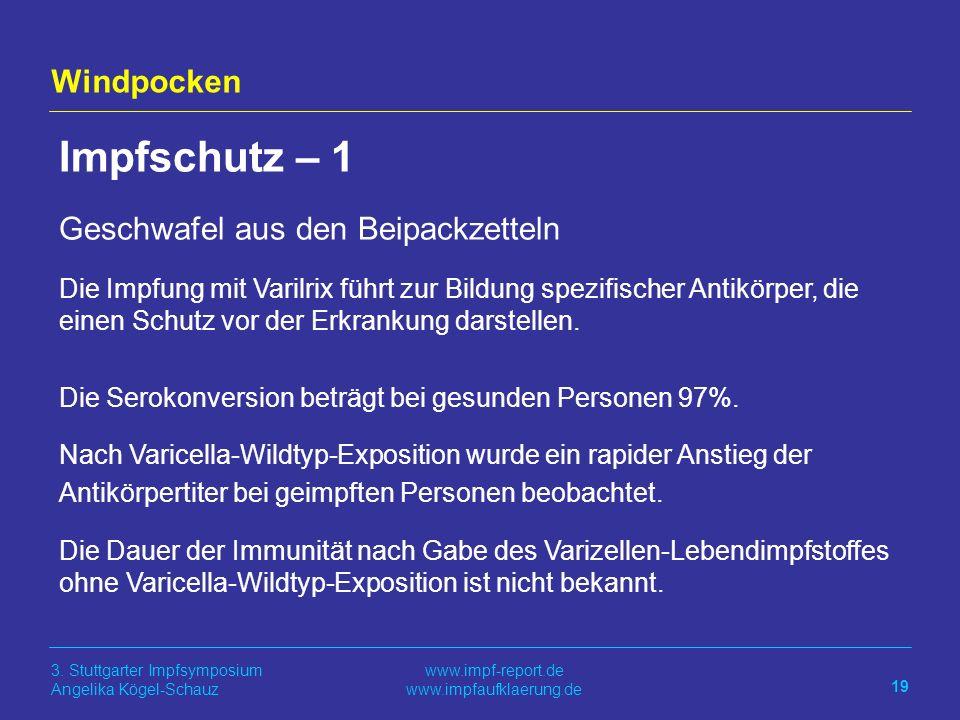 Impfschutz – 1 Windpocken Geschwafel aus den Beipackzetteln