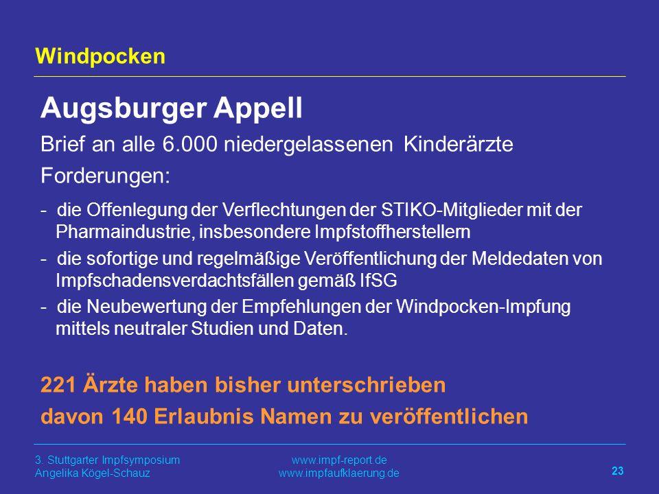 Augsburger Appell Windpocken