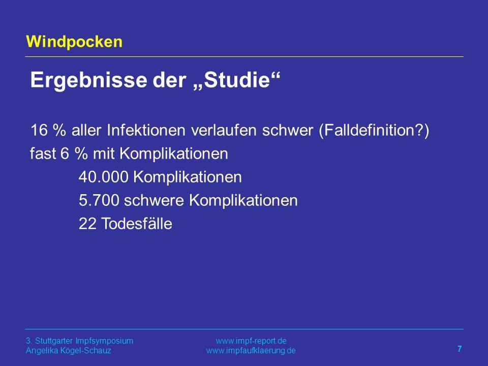 """Ergebnisse der """"Studie"""