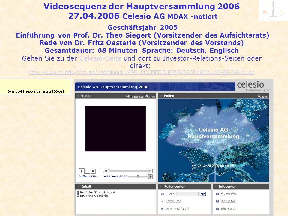 Videosequenz der Hauptversammlung 2006 27. 04