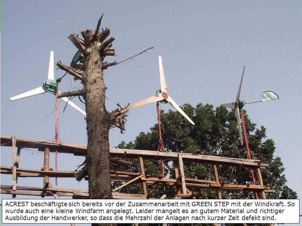 ACREST beschäftigte sich bereits vor der Zusammenarbeit mit GREEN STEP mit der Windkraft.