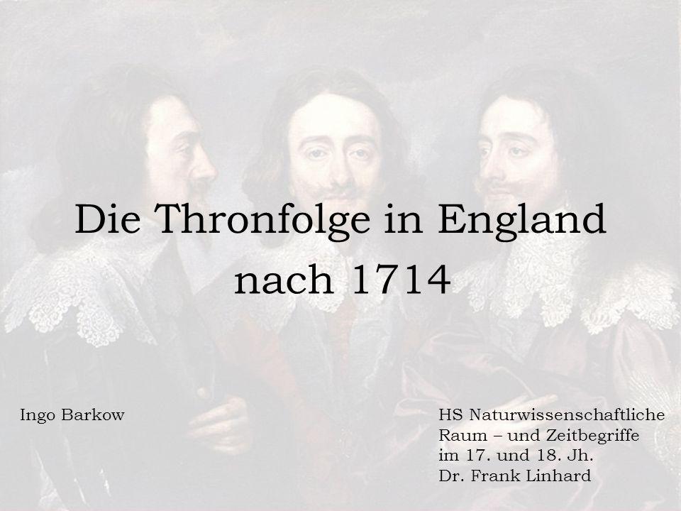 Die Thronfolge in England